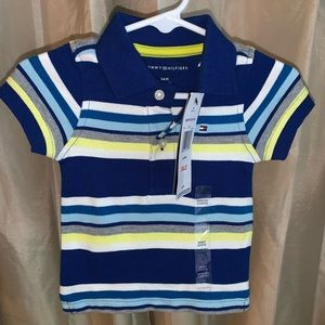 TOMMY HILFIGER STRIPED POLO Size 3-6 months